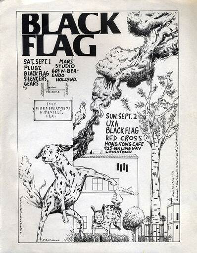 Raymond Pettibon, 'Raymond Pettibon 1979 Illustrated Punk Flyer (Black Flag)', 1979