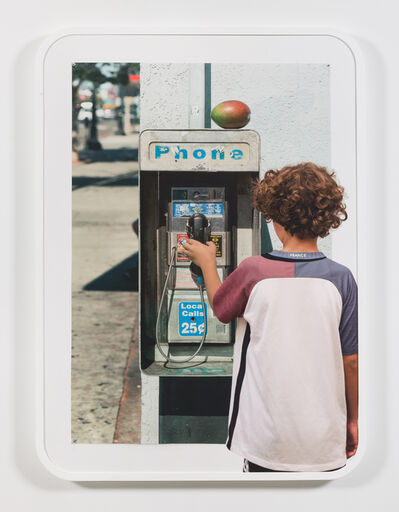 Brandon Lattu, 'Boy with Image of Payphone', 2016