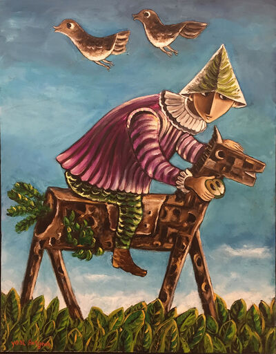 Yosl Bergner, 'The Rider on the Wooden Horse', ca. 1980