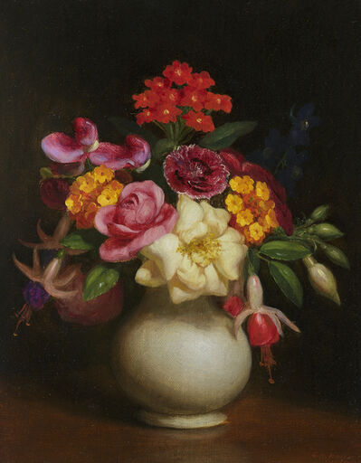 George Henry Hall, 'Floral Still Life', 1860