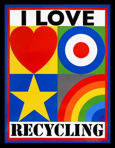 Peter Blake, 'I Love Recycling.', 2010