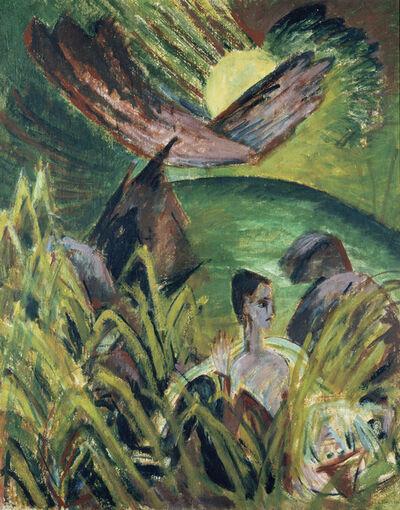 Ernst Ludwig Kirchner, 'Mondaufgang auf Fehmarn', 1914