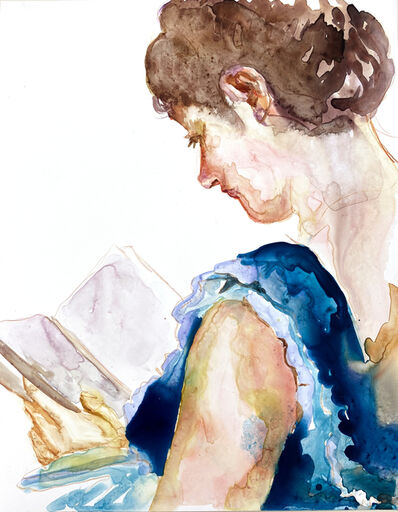 Angela Fraleigh, 'Study [blue dress]', 2020