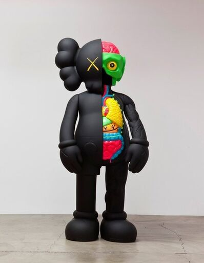 KAWS, '4FT Dissected Companion (Black)', 2009