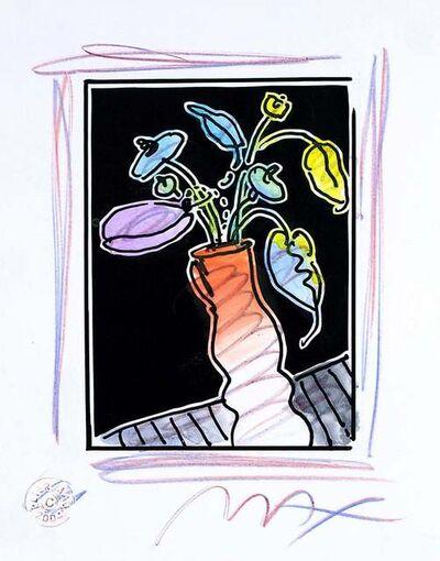 Peter Max, 'Vase Of Flowers I (B&W Series)', 2004