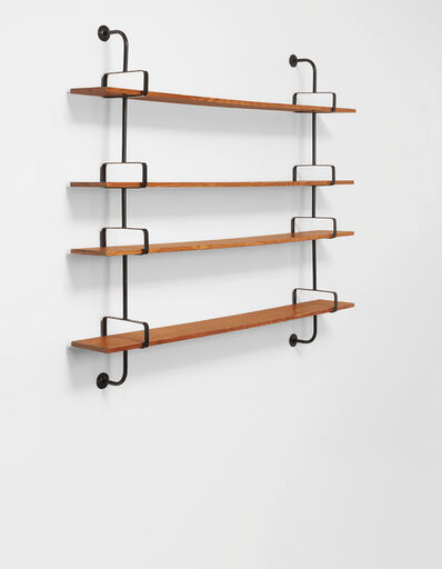 "Mathieu Matégot, 'Wall-mounted ""Démon"" shelf', ca. 1954"