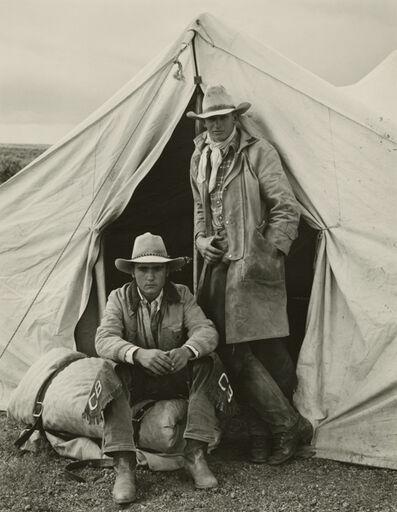 Kurt Markus, 'Shawn Biggs and Rick Erington, Spanish Ranch, Nevada', 1983