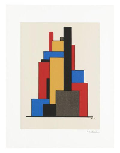 Lajos Kassák, 'Untitled (tower of color)'