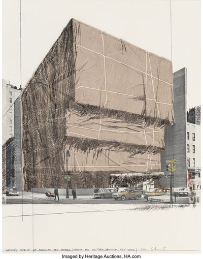 Christo, 'Whitney Museum of American Art, Packed, Project for New York, from (Some) Not Realized Projects', 1971