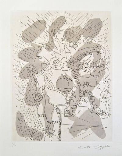 André Masson, 'Faune et Femme au Armure', 1966