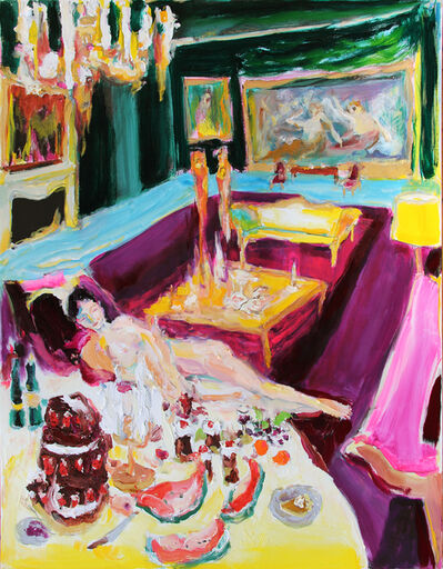 Bradley Wood, 'Lounging with Dessert Table', 2020