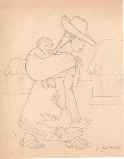 Diego Rivera, 'Vendedora de pollo'