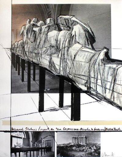 Christo, 'Wrapped Statues, the Glyptothek (Munich)', 1988