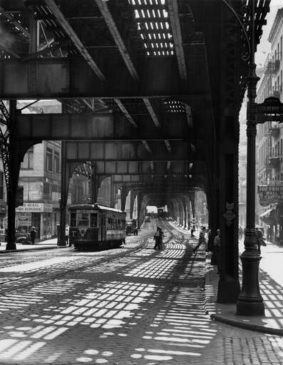 Todd Webb, 'The Bowery Under the El- New York', 1946
