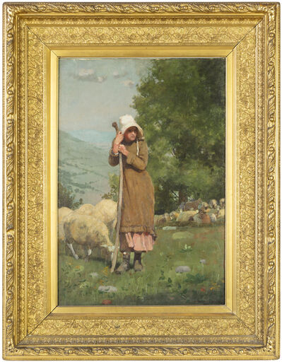 Winslow Homer, 'The Shepherdess', 1879