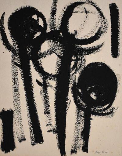 Dusti Bongé, 'Untitled (Black Round Flowers)', ca. 1960