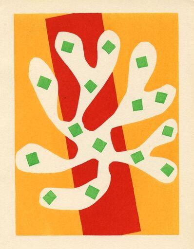 Henri Matisse, 'Algue blanche sur fond orange et rouge', 1953