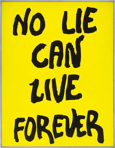 Sam Durant, 'No Lie Can Live Forever', 2003