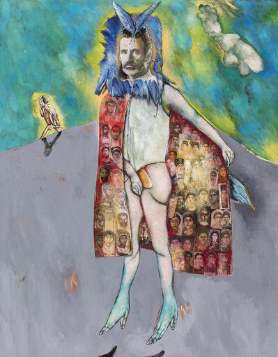 Breyten Breytenbach, 'Autoportrait avec cape de Fatoum', 2018