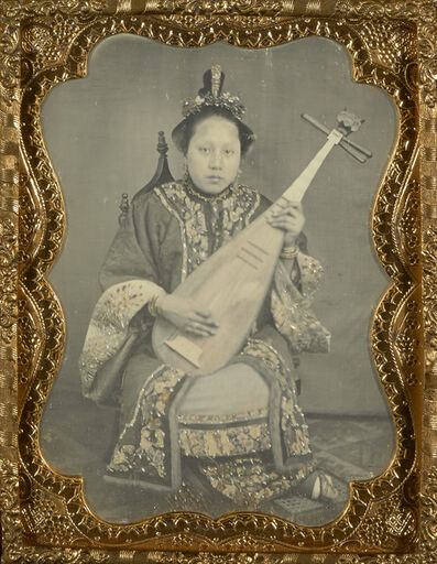 Unknown Artist, 'Chinese Woman with a Mandolin', 1860