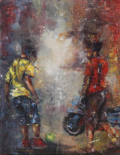 Arlindo Maunde, 'Kids on the bike', 2017