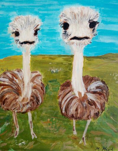 Marjorie Magid, 'Ostriches', 2016