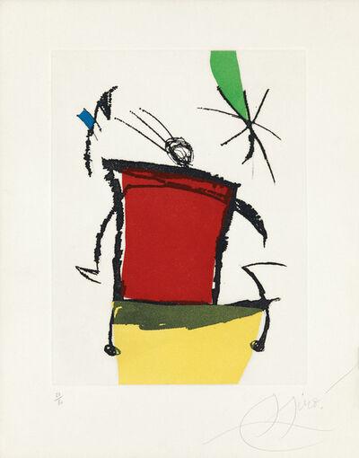 Joan Miró, 'Chanteur des rues V', 1981
