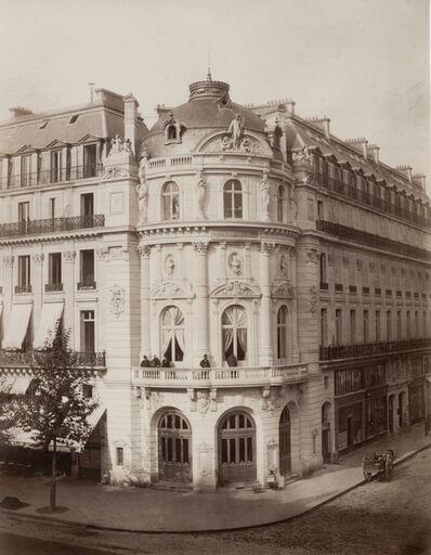 Charles Marville, 'Theatre du Vaudeville, Paris', 1868/1868c