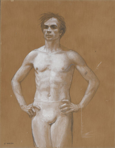 Jamie Wyeth, 'Three Quarter Figure, Study for Portrait of Rudolf Nureyev (Study #91)', 1977