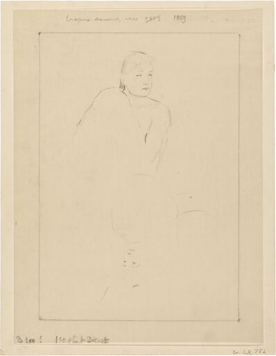 "Mary Cassatt, 'Sketch for ""Young Girl Fixing Her Hair""', ca. 1889"
