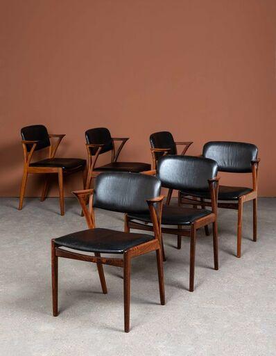 Kai Kristiansen, 'Six chairs', Vers 1960