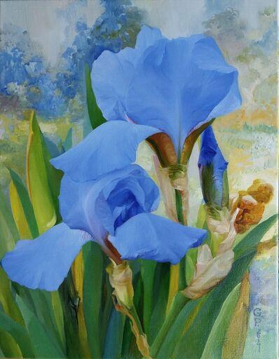 Gelena Pavlenko, 'Blue Iris', 2017