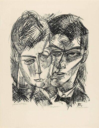 Conrad Felixmuller, 'Ehepaar (Wir - zum 14. Mai 1918/ Selbstbildnis mit Frau)', 1918