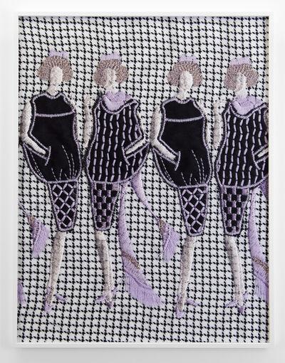 Tobias Kaspar, 'Four Women (white, black, violet)', 2019