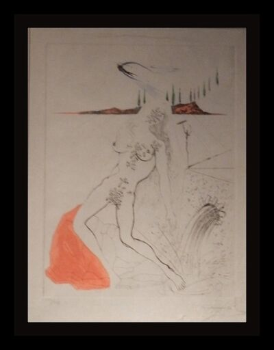 Salvador Dalí, 'Poems Secrets Nude at The Fountain', 1967