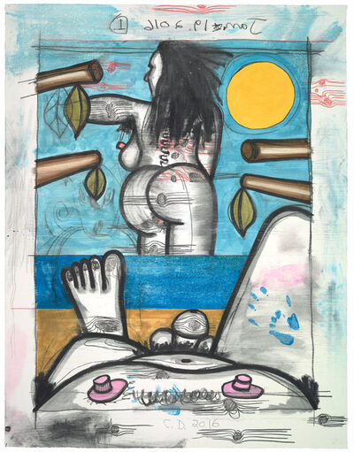 Carroll Dunham, 'Untitled, Jan. 19, 2016 #1', 2016