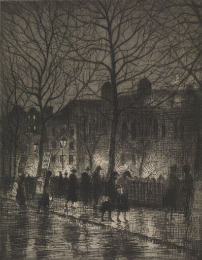 Christopher Richard Wynne Nevinson, 'Leicester Square ', 1926-1927