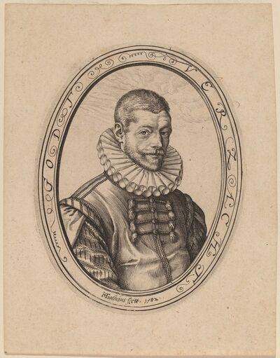 Hendrik Goltzius, 'Hans Felbbier', 1582