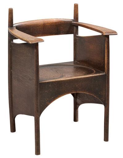 Charles Rennie Mackintosh, 'Stained Oak Armchair'