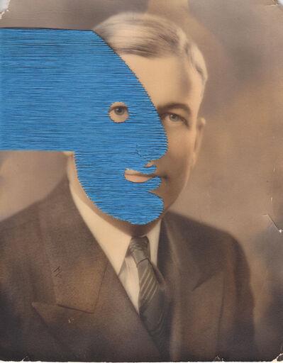 Maurizio Anzeri, 'Untitled (blue)', 2019