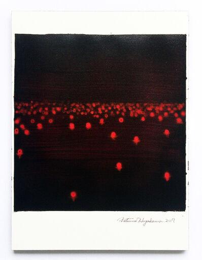 Katsumi Hayakawa, 'Daily Drawing No. 69, Red light', 2017