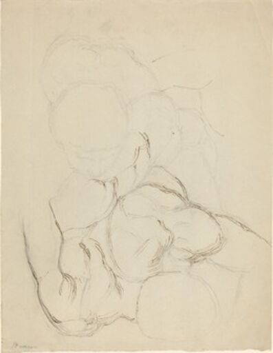 John Flaxman, 'Two Male Nudes seen from Above'