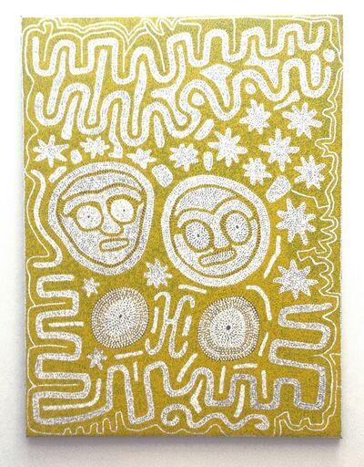 Jimmy Pike, 'Parnaparnti and Kurntimaru I (Yellow Goanna and Black Goanna)', 1980-2000