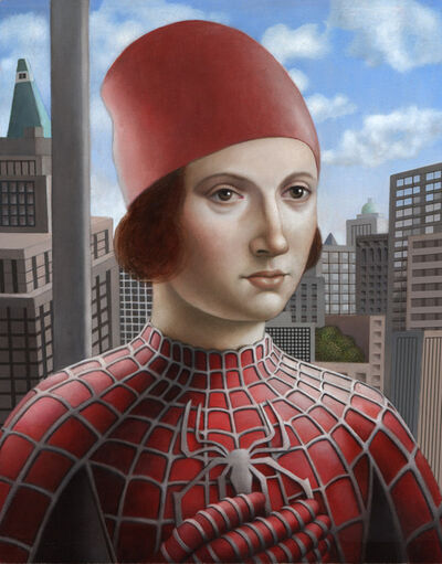 Amy Hill, 'Man in Spiderman Costume'