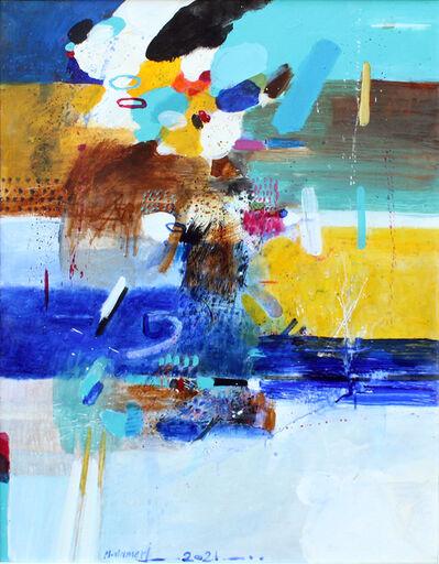 Mohammad Al Ameri, 'Yellow & Blue', 2021