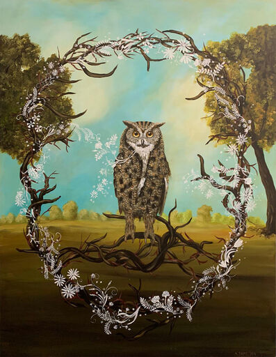 Anne Siems, 'Great Horned Owl', 2018