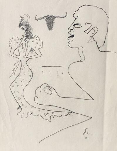 Jean Cocteau, 'Man & Woman ', ca. 1955