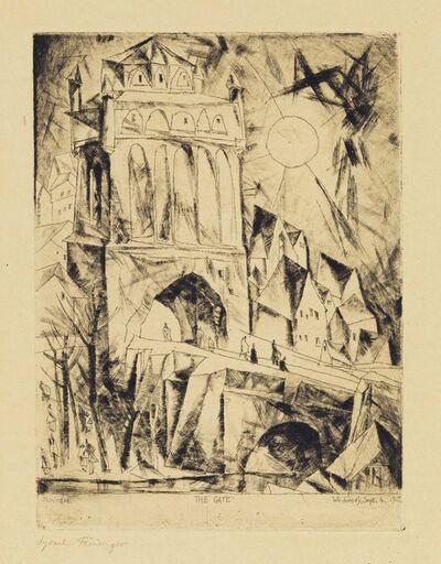 Lyonel Feininger, 'The Gate (Das Tor), from Die Schaffenden', 1912