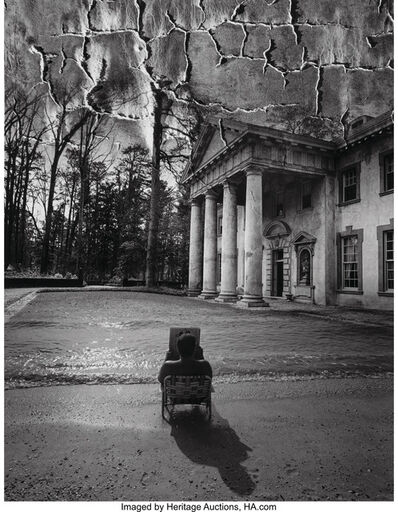 Jerry Uelsmann, 'Untitled (Man reading newspaper)', 1983
