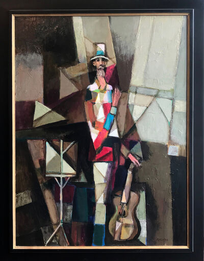 David Adickes, 'Cubism Man with Guitar ', 2017